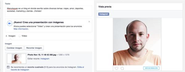 Sincronizar Facebook e Instagram
